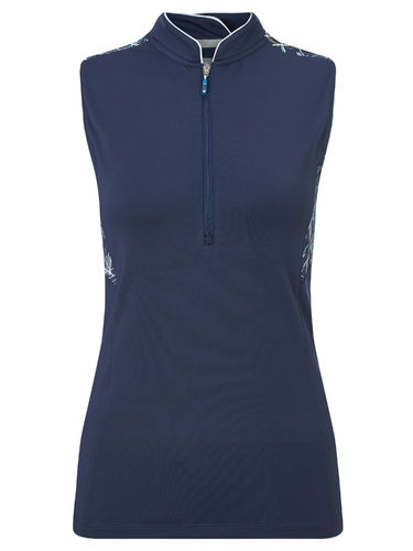 Callaway Damen Polo Linear Sleeveless Neck Top