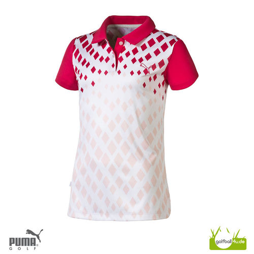 Puma Girls Polo Diamond Print