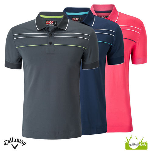 Callaway Herren Polo Chest Piped