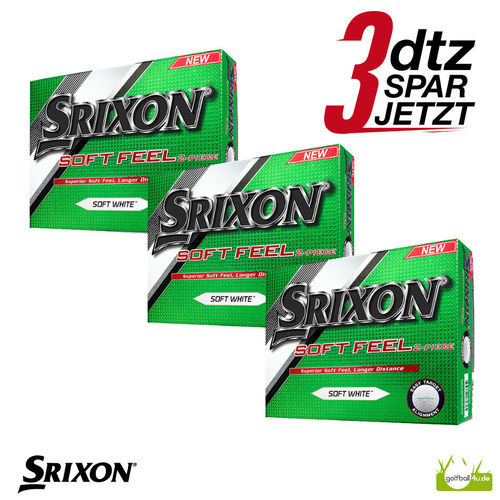 36 Srixon Soft Feel Golfbälle