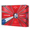 Callaway Chrome Soft TRUVIS Golfball ´18 weiss/blau