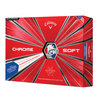 Callaway Chrome Soft TRUVIS Golfball ´18 weiss/rot/blau