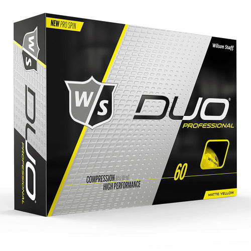 Wilson Staff DUO Professional Golfball Gelb