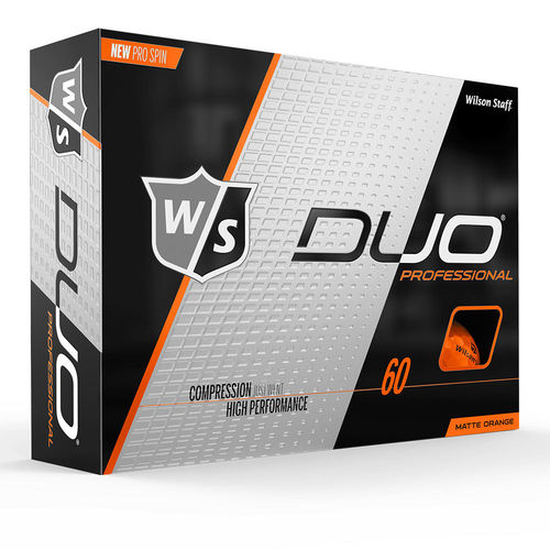 Wilson Staff DUO Professional Golfball Orange